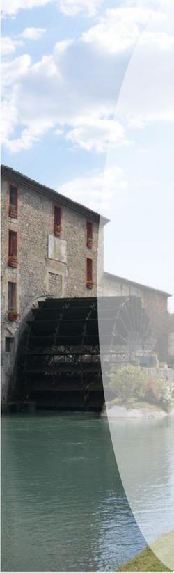 Barre latérale gauche moulin effet transparent